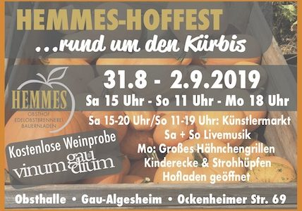 Rückblick: Hemmes Hoffest (Sa, 31.08. + So, 01.09.19)